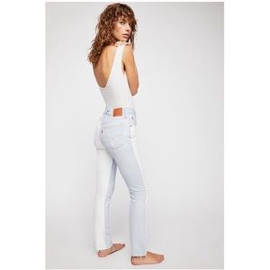 NWT Levi's 501 Two Tone Skinny Altered Jeans